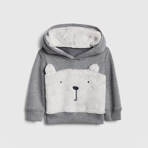 GAP Shirts & Tops - Sherpa Bear Hoodie Sweatshirt